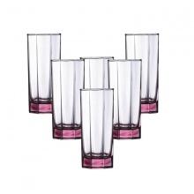 Bộ 6 ly thủy tinh cao Luminarc Octime 300ml-13460-hồng