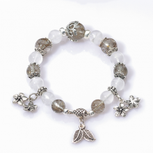 Vòng tay phong thủy đá ưu linh trắng ưu linh thủy hoa
