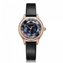 Đồng hồ nữ JA-1154E Julius Hàn Quốc dây da (đen)