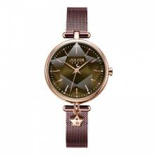Đồng hồ nữ JA-1145E Julius Hàn Quốc dây thép (rêu)