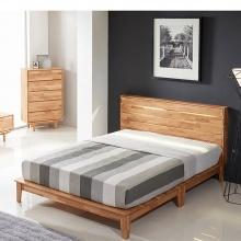 Giường đôi Calla gỗ cao su 2m0 - Cozino