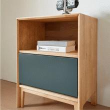 Tủ ngăn kéo Poppy 2 hộc gỗ cao su sơn xanh - Cozino