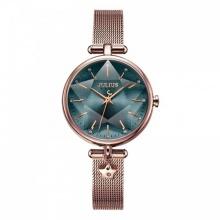 Đồng hồ nữ JA-1145B Julius Hàn Quốc dây thép (đồng xanh)