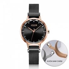 Đồng hồ nữ JA-1143E Julius Hàn Quốc dây nam châm (đen)