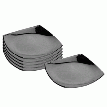 Đĩa thủy tinh Luminarc Quadrato Noir Dessert 19cm-H3670