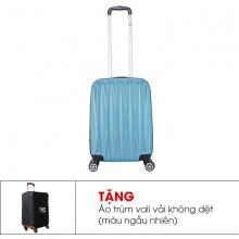 Vali TRIP P18 size 50cm (20inch) xanh bạc (tặng áo vali)