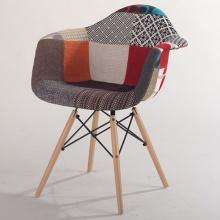 Ghế Armest bọc thổ cẩm chân gỗ màu 1