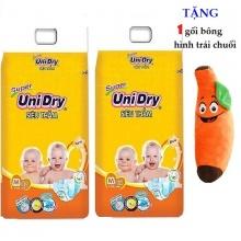 [Tặng 1 gốm ôm hình trái chuối] Combo 2 gói Tã dán Unidry size M42 (cho bé từ 6 đến 11 kg)