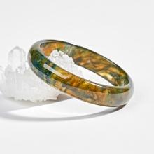 Vòng tay đá tự nhiên băng ngọc thuỷ tảo huyết Ngọc Quý Gemstones