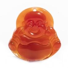 Mặt dây chuyền Phật Di Lặc mã não đỏ tự nhiên PDLRAGA02 - VietGemstones