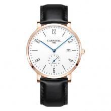 Đồng hồ nam dây da Carnival G01701.101.432