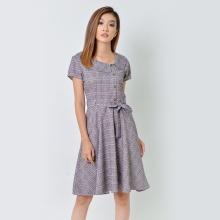 Đầm xòe thời trang Eden màu xám - D360