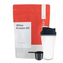 Combo sữa tăng cơ vị socola bạc hà - whey protein 80 - Go Nutrition - 1kg 40 lần dùng & bình lắc 700 ml