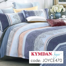 Drap Kymdan Joyce 180 x 200 cm (drap bọc + áo gối nằm + vỏ mền) JOYCE470