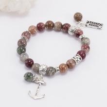 Vòng đá thạch anh ưu linh đa sắc phối charm bạc (9mm) Ngọc Quý Gemstones