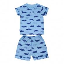 Bộ Pyjamas ngắn bé trai BN1070 (hoa văn ngẫu nhiên)_Xanh biển_size 9,10