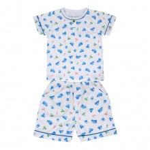 Bộ Pyjamas ngắn bé trai BN1070 (hoa văn ngẫu nhiên)_Trắng họa tiết Ô tô_size 9,10