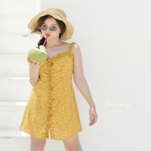 Đầm dây nhún bèo summer - ad190031