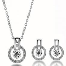 Bộ trang sức mạ bạc thay lời yêu thương - Tatiana - DB1078