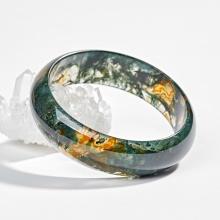 Vòng ngọc băng thủy tảo huyết ni 60 Ngọc Quý Gemstones