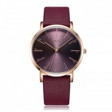 Đồng hồ nữ ja-1161c julius hàn quốc dây da - đỏ