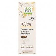 Kem chống nhăn hữu cơ cho vùng mắt và môi với tinh dầu Argan 15ml