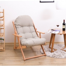Ghế lười gỗ sồi - Ghi xám