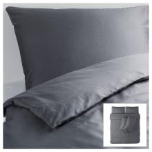 Bộ drap vải màu xám 100% Cotton satin 160cm x 200cm