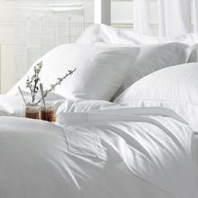 Bộ drap trắng trơn Hàn Quốc 100% cotton Satin 160cm x 200cm x 20cm