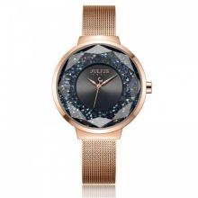 Đồng hồ nữ JA-1111E Julius Hàn Quốc dây thép (đồng xám)