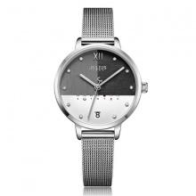 Đồng hồ nữ JA-1100A Julius Hàn Quốc dây thép (bạc)