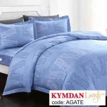 Drap Kymdan Lavish 160 x 200 cm (drap + áo gối nằm + vỏ mền) AGATE