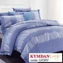 Drap Kymdan Lavish 180 x 200 cm (drap + áo gối nằm + vỏ mền) IVORY