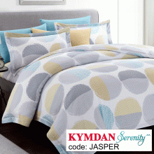 Drap Kymdan Serenity 160 x 200 cm (drap + áo gối nằm + vỏ mền) JASPER