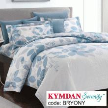 Drap Kymdan Serenity 180 x 200 cm (drap + áo gối nằm + vỏ mền) BRYONY