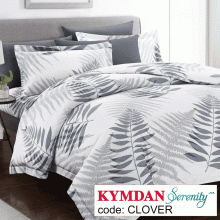 Drap Kymdan Serenity 180 x 200 cm (drap + áo gối nằm + vỏ mền) CLOVER