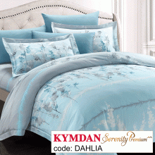 Drap Kymdan Serenity Premium 180 x 200 cm (drap + áo gối nằm + vỏ mền) DAHLIA