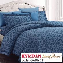 Drap Kymdan Serenity Premium 180 x 200 cm (drap + áo gối nằm + vỏ mền) GARNET