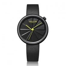 Đồng hồ nữ JA-1106E Julius Hàn Quốc dây da (đen)