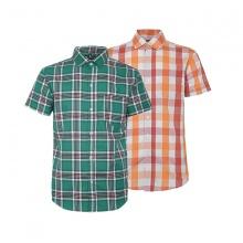 Bộ 2 áo sơ mi ngắn tay sọc caro thời trang SMC335