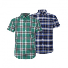 Bộ 2 áo sơ mi ngắn tay sọc caro thời trang SMC337