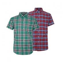 Bộ 2 áo sơ mi ngắn tay sọc caro thời trang SMC339