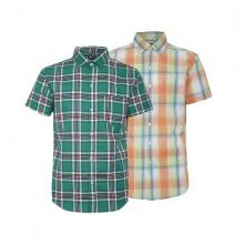 Bộ 2 áo sơ mi ngắn tay sọc caro thời trang SMC3310
