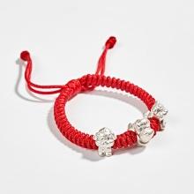 Vòng thắt dây đỏ tam hợp quý nhân dần ngọ tuất Ngọc Quý Gemstones