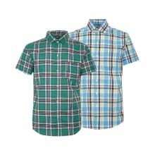 Bộ 2 áo sơ mi ngắn tay sọc caro thời trang SMC3311