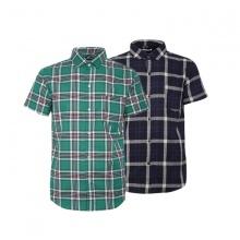Bộ 2 áo sơ mi ngắn tay sọc caro thời trang SMC3313
