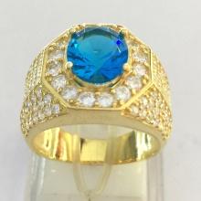 Nhẫn nam mạ vàng 18k đá thạch anh tự nhiên - RM01000