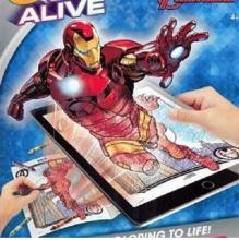 Sách tô màu 4D cho bé chủ đề Avengers