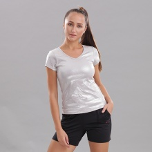 Áo thun nữ cổ tim tay ngắn Circle (V-neckline essential t-shirt) JW19-0036M