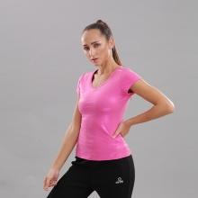 Áo thun nữ cổ tim tay ngắn Circle (V-neckline essential t-shirt) JW19-0036P